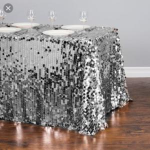 big sequins tablecloth
