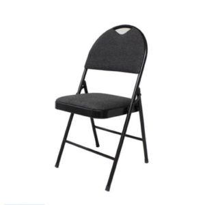 padded folding black chair