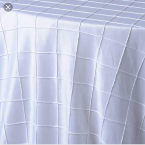 120 inches round pintuck tablecloth
