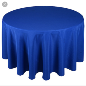 120 inches round polyester tablecloth