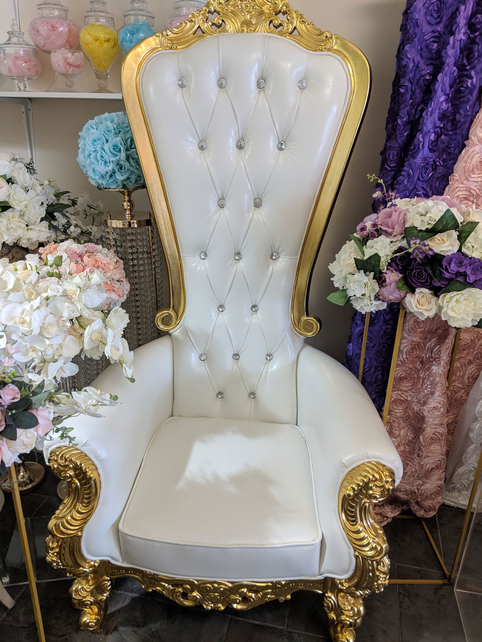 Throne Chair For Rent In Brampton Km Party Rental