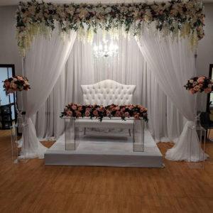 wedding backdrop setup