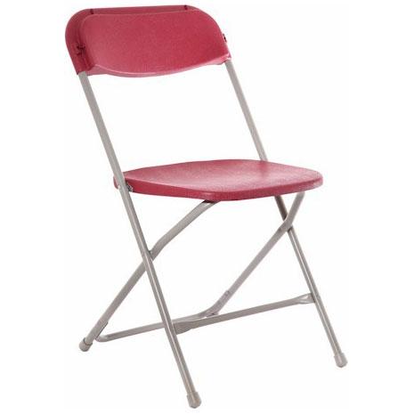 burgundy folding chair